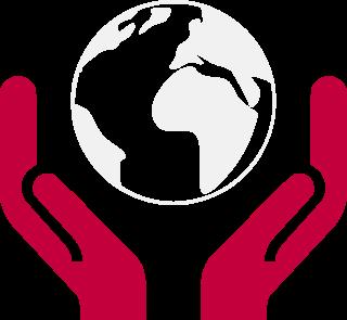 manos cuidando tierra